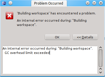 How to fix GC overhead limit exceeded in Eclipse