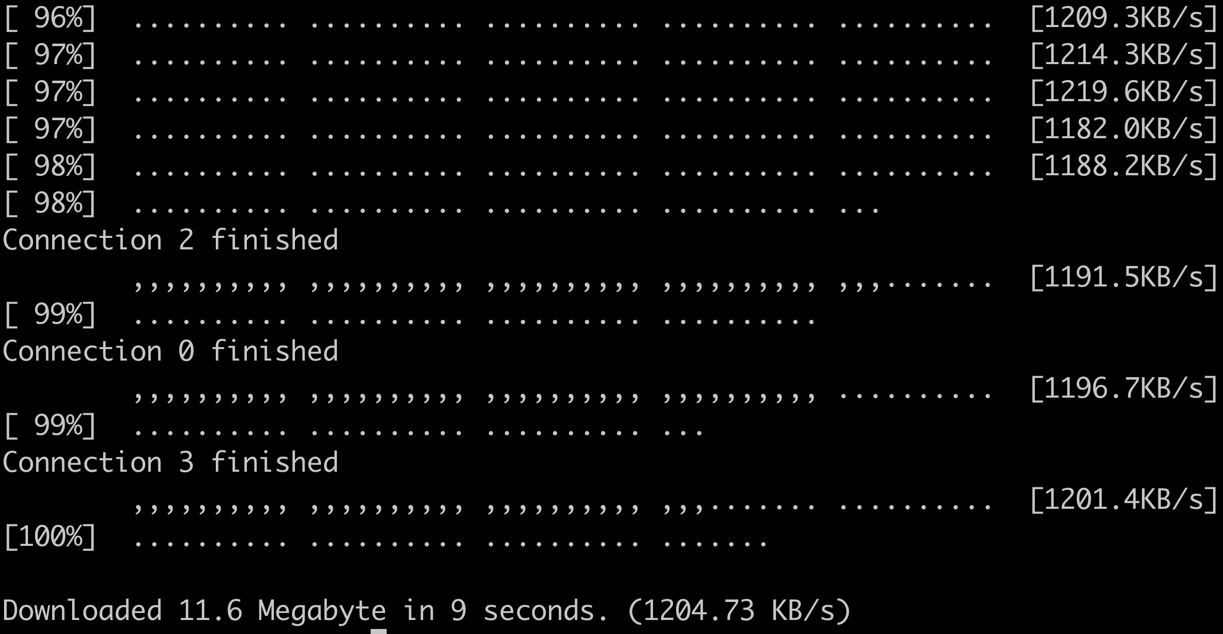 how to use download accelerator in linux terminal